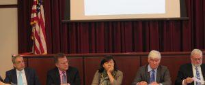 Panel 1: Robert Trojan, Christopher Molineaux, Donna Chung, Scott Cooper, and Robert Skelton